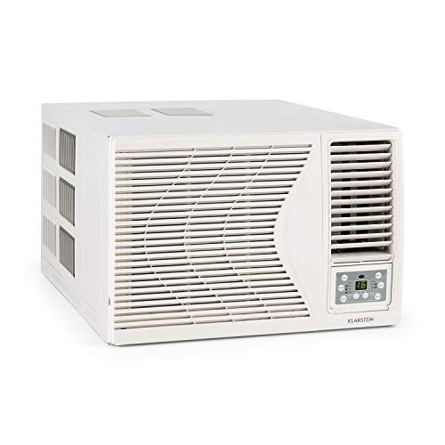 Klarstein Frostik - Fenster-Klimaanlage, Klimagerät, 4-stufiger Ventilator, Energieeffizienzklasse A, Fernbedienung, LCD-Display, Kühlungsmodus, 16-30°C, Timer, 2,7 kW Kühlleistung, 9000 BTU, weiß
