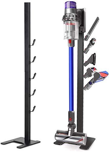 Bison Ständer für Dyson Akkusauger - Organizer für Dyson V6,V7,V8,V10,V11,DC30,DC31,DC34,DC35 Standfuß Halterung Rahmen FIR (Schwarz)