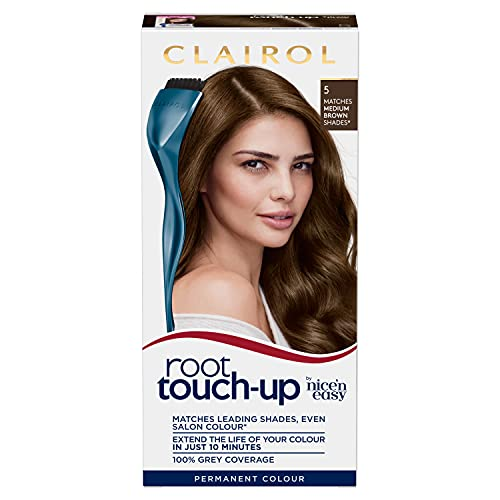 Clairol Nice'n Easy Root Touch-Up Permanent Hair Dye, 5 Medium Brown