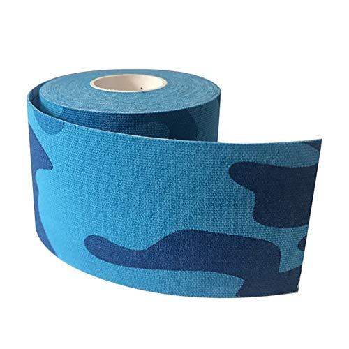 ETXP Cómodo 10rolls 5cm * 5m terapéutica Deportes Kinesiología Cinta Cinta Impermeable Muscular elástico for Rodilla del Hombro Codo Pesas de Tobillo Fitness Corriendo (Color : 10pcs Camo Blue)