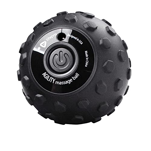 LifePro 4-Speed Vibrating Massage Ball - Revolutionary Lacrosse Ball Deep Tissue Trigger Point Therapy - Vibration Roller Ball for Plantar Fasciitis, Yoga Therapy, Mobility, Myofascial Release Tools
