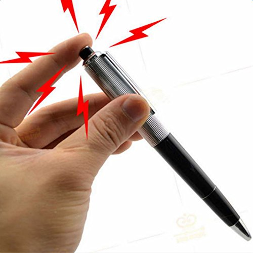 LAAT Electric Shock Pen Fun Prank Shock Pens Joke Trick Toys with Electric Shocking Pen with Battery 1PC