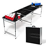 EastPoint Sports Easy Folding Beer Pong Tailgate Tables with Cups and...