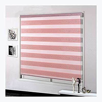 QWERTY Blackout Blinds?Zebra Double Roller Blinds Day and Night Roller Vision Blinds with Beaded Chain Double Layer Adjustable Curtains Suitable for All Kinds of Windows Pleated Blinds Roller Blind