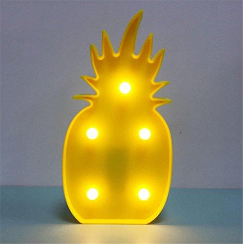 Atmko®Veilleuse Lampe de Table Children Led Night Light Lampe de bureau à ananas Batterie utilisée pour enfants Bébé Adultes Chambre à coucher Décoration d'intérieur Fête d'anniversaire Jouets Cadeaux Décoration murale Mood Lampe de table
