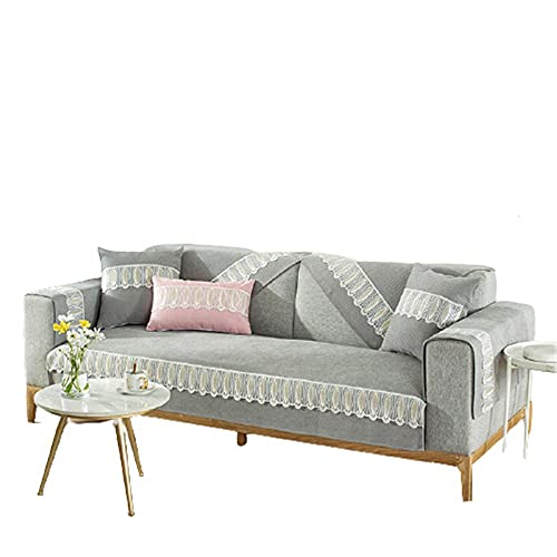 Chenille Sectional Couch Schonbezüge Couchbezug,Sofabezug,Sectional Couchbezüge,grau,110 * 180cm