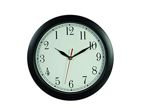Out of the blue Reloj de Pared, Marcha para atrás, Negro, Aprox. 29cm