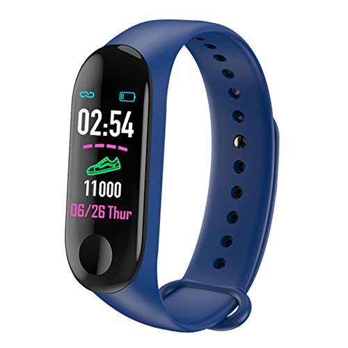 YANXS Smartwatch, Reloj Inteligente Deportivo Impermeable Pulsera de Actividad Inteligente con Monitor de Sueño Controlador para Hombre Mujer y Niños, Admite Android y iOS,Azul