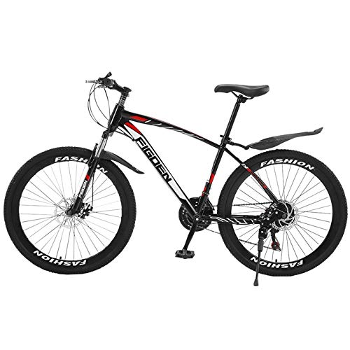 LefuTonk 26 Inch Mountain Bike with 21 Speed Dual Disc Brakes Full Suspension Non-Slip Gear Shifting The Gear Shifting is Great The Front Suspension Fork adapted to Any Terrain