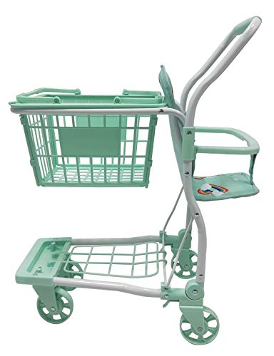 Roma Rupert Toy Shopping Trolley Suitable from 24 months - mint Roma The Rupert shopping trolley measures 62cm from the floor to the handle. Removable Shopping basket Available in primrose or mint - Unique Rainbow Design 4