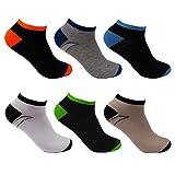 L&K 12 paia Calze da Uomo sportive Sneaker Calzini Cotone comodo multicolore 92255A 43-46