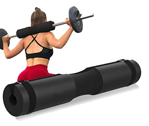 Barbell Pad for Standard and Olympic Barbells with Safety Straps.Almohadill GYM