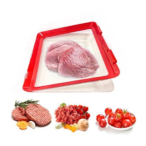 Bandeja de conservación de alimentos saludables para refrigerador de alimentos y conservación de alimentos al vacío, bandeja para conservar la frescura de alimentos