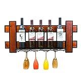LYLSXY Estante de Exhibición de Vino, Tejado de Madera de Loft de...