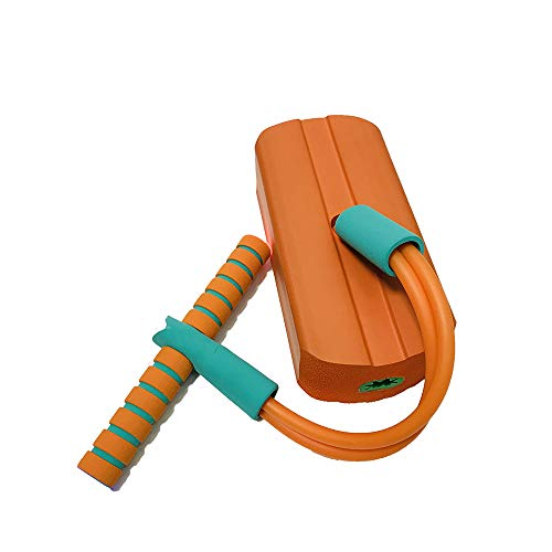 Tickos Children Foam Pogo Jumper Colorful Pogo Stick with Frog Sound Bouncing Toy Best Gifts for Children (Orange)