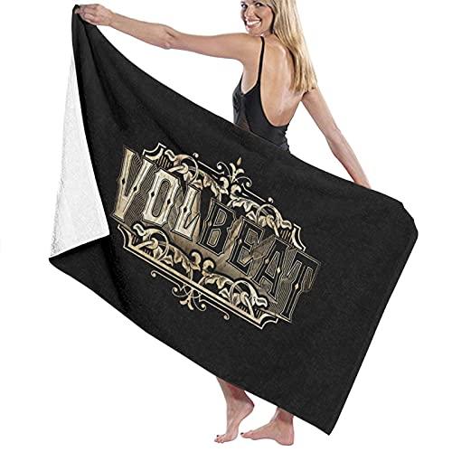 Volbeat Toalla de playa de gran tamaño, toalla de microfibra grande, secado rápido, sin arena, toallas de playa para viajes al aire libre, piscina, deporte, hotel, gimnasio y spa