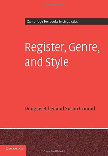 Compare Textbook Prices for Register, Genre, and Style Cambridge Textbooks in Linguistics 1 Edition ISBN 9780521677899 by Biber, Douglas