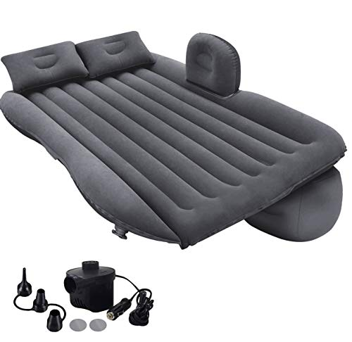 Zmarthumb - Inflatable Car Air Mattress with Pump (Portable) for Travel, Camping, Vacation as Truck SUV Minivan Back Seat Blow-Up Sleeping Pad, Compact Twin Size Bed