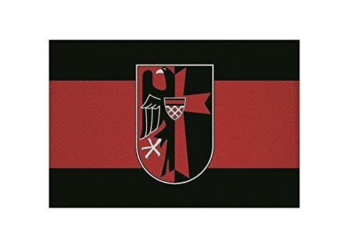 U24 Aufnäher Sudetenland mit Adler Fahne Flagge Aufbügler Patch 9 x 6 cm