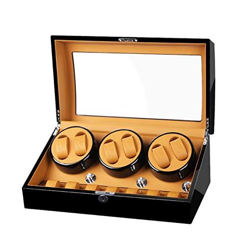 LSRRYD Relojes Cajas Giratorias Cajas Giratorias Relojes Automático 6+7 Caja Enrollador Reloj con Motor Silencioso Caja Relojes Mecánicos Caja Bobinadora 5 Tipos Modos Funcionamiento