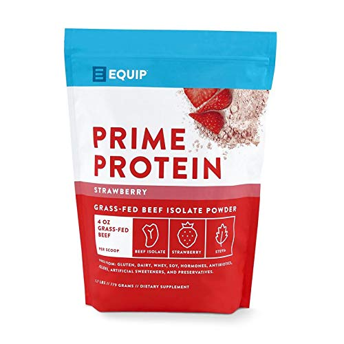 Beef Paleo Protein Powder: Keto Collagen Low Carb Ketogenic Diet Supplement Vital for Caveman & Carnivore Nutrition of Ancient Source. Best as Gelatin Muscle Meat Proteins Drink (Strawberry)