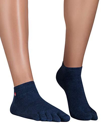 Knitido Track & Trail Ultralite Fresh Zehensocken-Sneaker Unisex, Größe:39-42, Farbe:Navy (636)