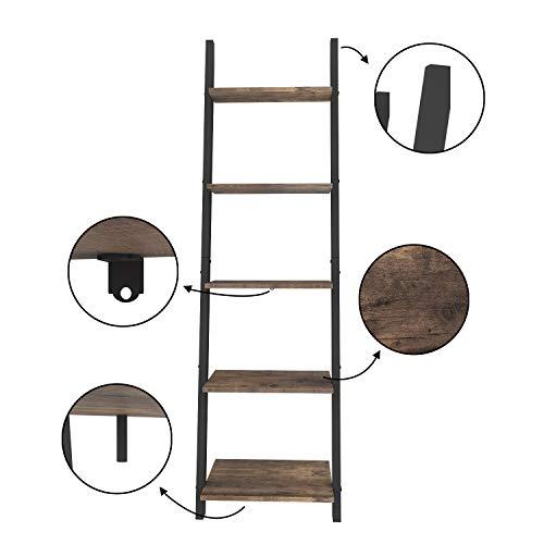 O&Kオープンシェルフラックディスプレイラックおしゃれ飾り棚壁面収納立て掛け収納アイボリー北欧スタイルシンプル整理棚木製木目幅45×奥行35×高さ154.3cm(ブラック)