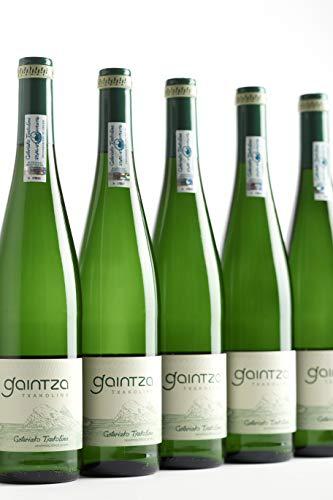 Txakoli Gaintza, vendimia 2019, caja de 6 botellas, denominación de origen Getariako Txakolina - Txakolí de Getaria, vino blanco