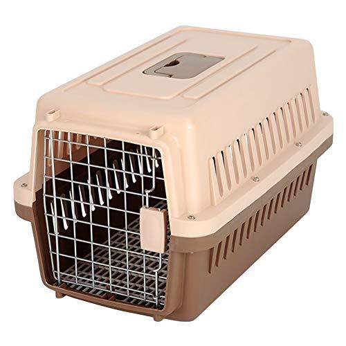 LXLA Transportin Portador de Viaje para Mascotas con asa, Perrera de Transporte Grande para Gatos/Perros/Conejos/Animales, 4 Colores Opcionales, Aprobado por la aerolínea