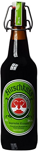 Hirschkuss 38{34da9759d0664626b48557cd9892965671bc96cc10b21f780f2b7733264c9662} 0,5l Schnackelverschlussflasche, Kräuterlikör aus Oberbayern