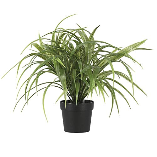 Clas Ohlson  Artificial Grass in a Pot, Potted Plant, 35 cm High, UV Protected Fake Indoor and Outdoor Plant with Pot