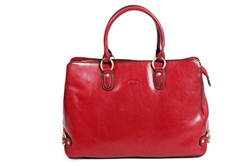 Katana Katana Einkaufstasche, Rindsleder, Halsband K82618, rot, Einheitsgröße