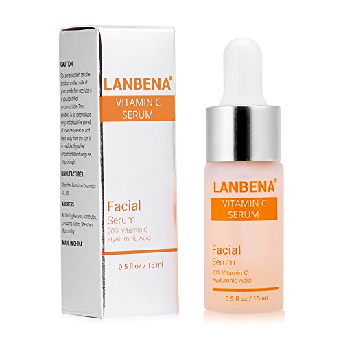 Sérum facial Vitamina C elimina las manchas de rociador antiedad, antiarrugas, iluminador natural para el rostro y el cuello, 15 ml