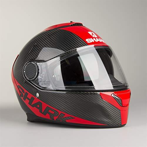 Shark casco de moto Spartan Carbon Skin DRR, color negro/rojo, talla L