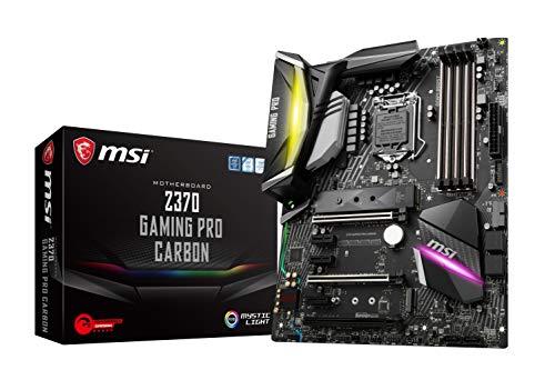 MSI Performance GAMING Intel 8th Gen LGA 1151 M.2 DVI HDMI USB 3.1 Gigabit LAN SLI CFX ATX Motherboard (Z370 GAMING PRO CARBON)
