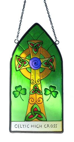 Royal Tara Celtic High Cross 20 x 9.5cm Gothic Window Hang Suncatcher