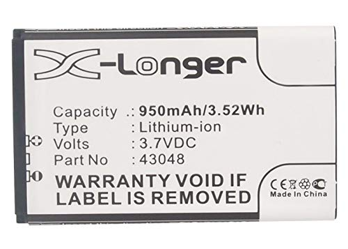 Synergy Digital Battery Compatible with Swissvoice 43048 Cordless Phone Battery - (Li-Ion, 3.7V, 950 mAh)