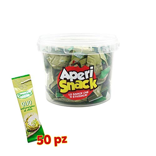 Aperisnack® - AP05.012.02 Kit da 50 bustine da 10ml Olio extravergine di oliva Develey monodose -