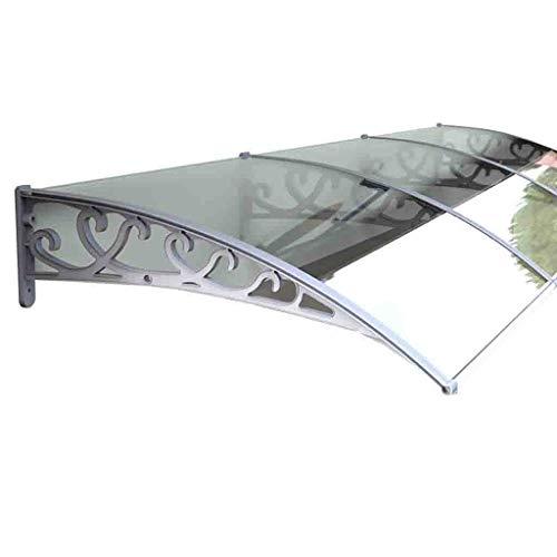 Lw Canopies zonnezeil van polycarbonaat voor paviljoen-deur, luifel, overkapping voor ramen voor paviljoen, terras, veranda, luifel 60×300cm