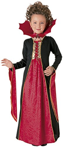 Rubie's Mädchen Kleid Gothic Vampir Halloween Fasching Karneval Gr.M 5-7 Jahre
