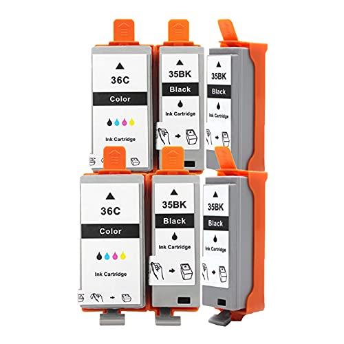 Cartuchos De Tinta Remanufacturados Para PGI-35BK CLI-36C, Reemplazo Compatible Con La Impresora IP100 IP110 De Para Canon, Traje Negro Y Color Package 4