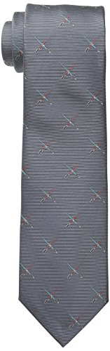 Star Wars Men's Lightsaber Duel Tie, Grey, One Size