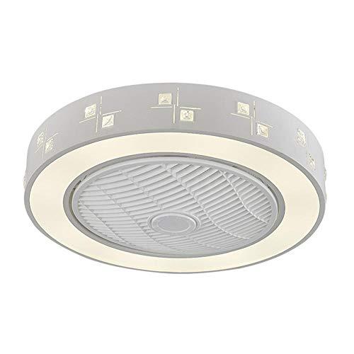 WTTCD Moderno Ventilador de Techo Con Iluminación Led 72W Luz de Ventilador Regulable 55 * 21Cm Luz de Ventilador Invisible Con Control Remoto 3 Colores Regulables Para Dormitorio-D Tipo-220V