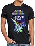 A.N.T. Rainbow Road Camiseta para Hombre T-Shirt Double Dash Kart Tour GP Mario, Talla:XL, Color:Negro