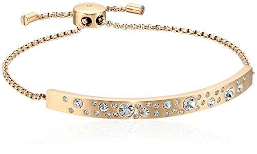 Michael Kors Gold Modern Brilliance Scatter Pave Slider Bracelet