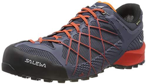 Salewa Herren MS Wildfire Gore-TEX Trekking-& Wanderhalbschuhe, Ombre Blue/Fluo Orange, 44.5 EU