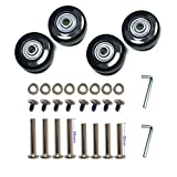 YongXuan 4 Wheels Wear-Resistant Mute Luggage Suitcase Replacement Wheels Rubber...