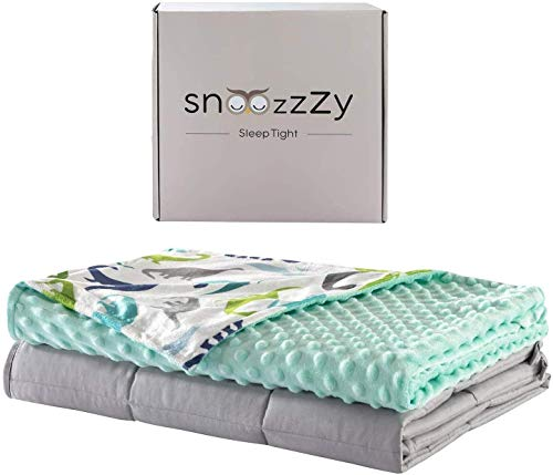 snoozzzy Kids Weighted Blanket And Unicorn Cover 36X48In, (5 lb) Great For Children - Aids Sleep And Relaxation + Free Owl Toy