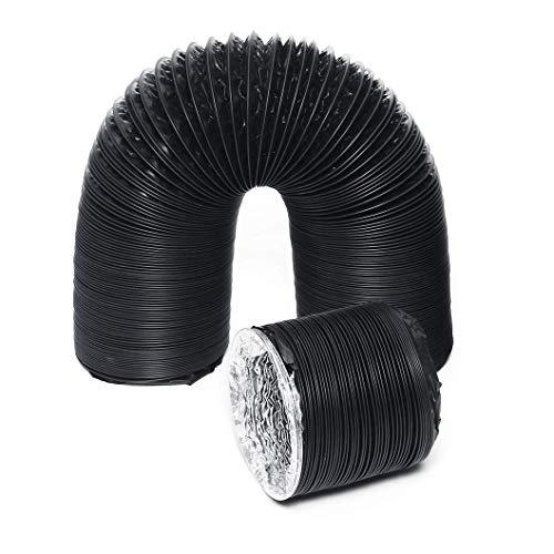 AZITICY Lüftungsschlauch Abluftschlauch Aluflexrohr PVC 150mm Alu-Flexschlauch Flexrohr Luftschlauch Alurohr für Mobile Klimaanlage, Dunstabzugshaube, Ablufttrockner (ø150mm*2m)