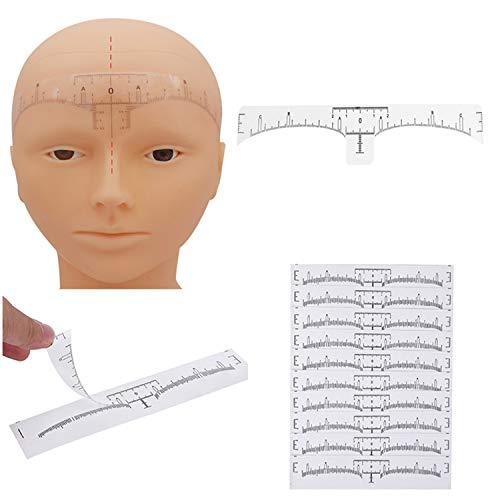 YouU Einweg Augenbraue Lineal, 50 Stück für Make-up Schablonen Augenbrauen Microblading Schablone Tattoo Aufkleber Positioniert Augenbraue Sticker Lineal Werkzeug